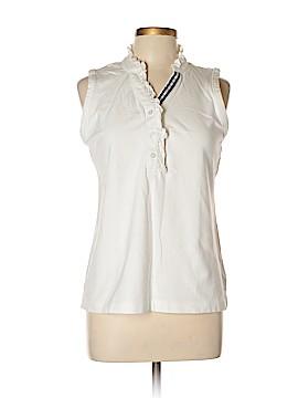 Lands' End Sleeveless Button-Down Shirt Size 10 - 12