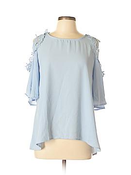 Blue Rain Short Sleeve Blouse Size L