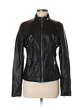 L.2 Jeanswear Faux Leather Jacket Size M