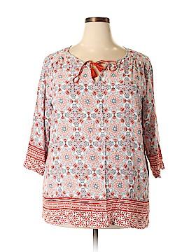 Lucy & Laurel 3/4 Sleeve Blouse Size 2X (Plus)
