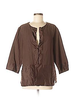 Eileen Fisher 3/4 Sleeve Button-Down Shirt Size XL