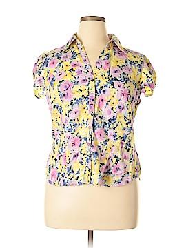 Sunny Leigh Short Sleeve Button-Down Shirt Size XL