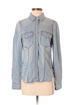Trouve Long Sleeve Button-Down Shirt Size S