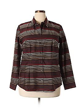 Coldwater Creek Long Sleeve Button-Down Shirt Size 1X (Plus)