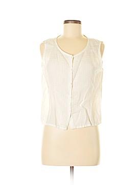 Eileen Fisher Sleeveless Button-Down Shirt Size M