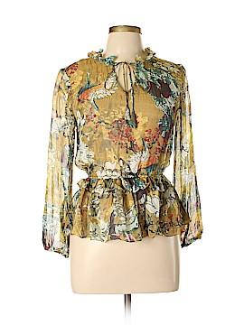 Hemant And Nandita Long Sleeve Silk Top Size XS