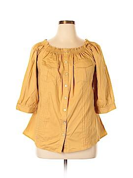 Libian 3/4 Sleeve Button-Down Shirt Size XXL