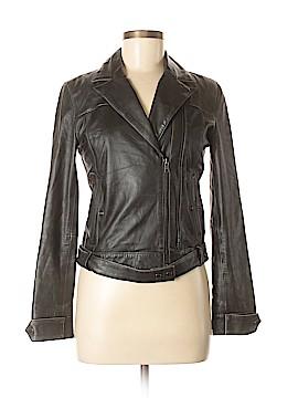 Armani Exchange Leather Jacket Size S (Petite)