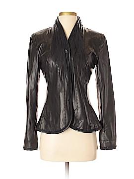 Elie Tahari Leather Jacket Size S
