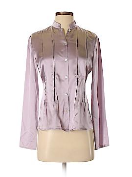 Laura Ashley Long Sleeve Silk Top Size 4