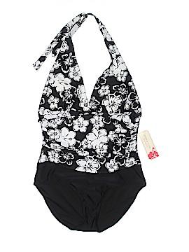 Tropical Escape One Piece Swimsuit Size 16
