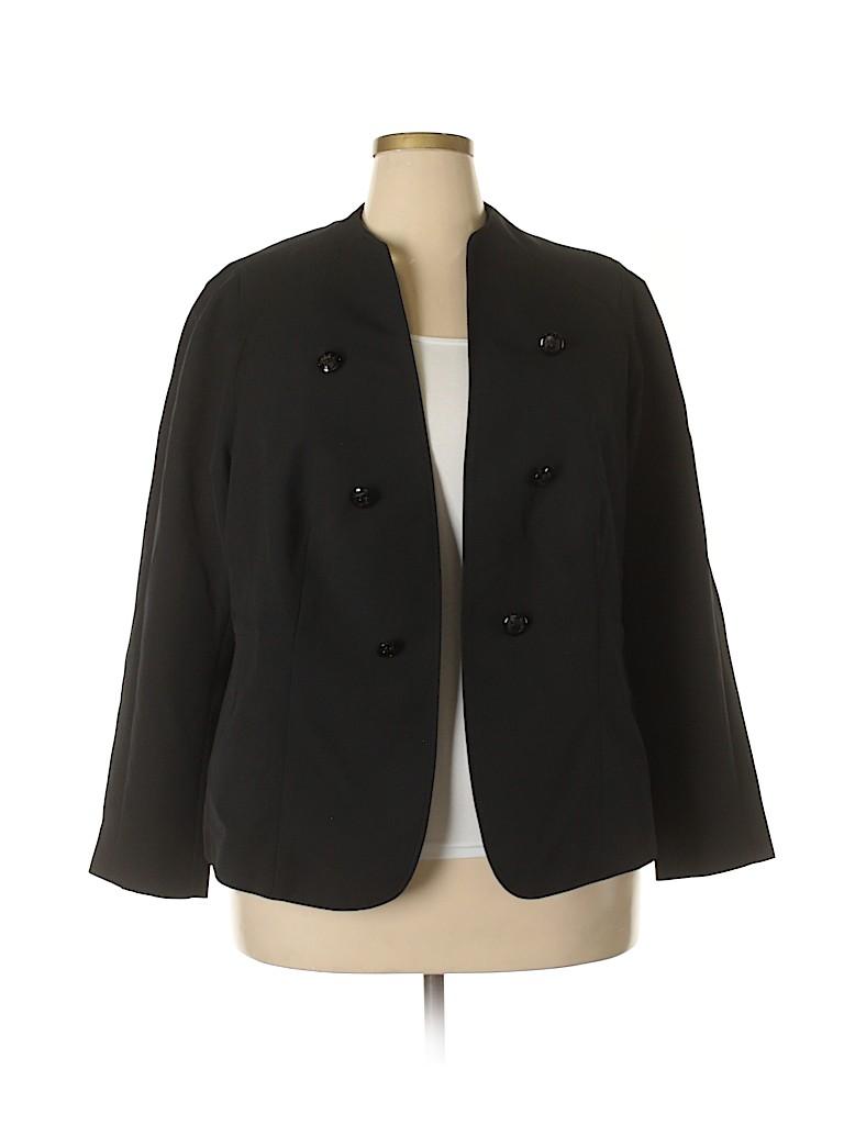 dff7e5ad5e6 Worthington Solid Black Jacket Size 20 (Plus) - 45% off