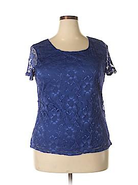 Isaac Mizrahi Short Sleeve Blouse Size XXL