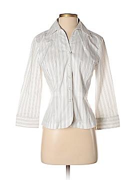 AK Anne Klein Long Sleeve Button-Down Shirt Size 4