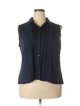 Bobeau Short Sleeve Button-Down Shirt Size 1X (Plus)