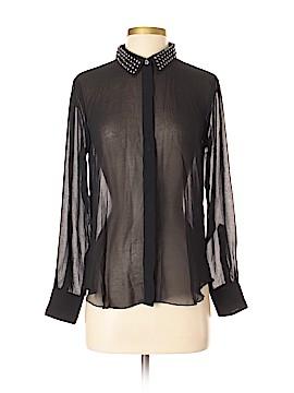 Velvet Long Sleeve Blouse Size P