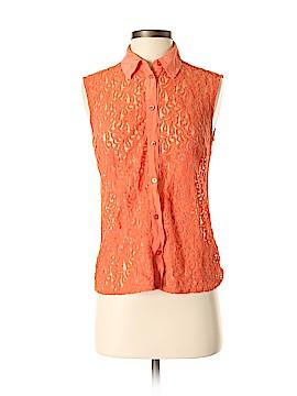 Equipment Sleeveless Button-Down Shirt Size XS