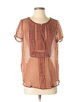 Meadow Rue Short Sleeve Silk Top Size M