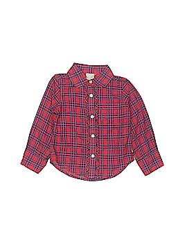 Crewcuts Long Sleeve Button-Down Shirt Size 2