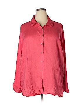 Calvin Klein Long Sleeve Button-Down Shirt Size 2X (Plus)