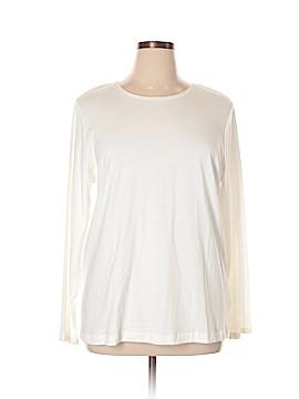 Croft & Barrow Long Sleeve T-Shirt Size 1X (Plus)
