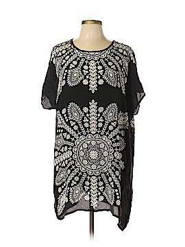 Tolani Short Sleeve Silk Top Size L
