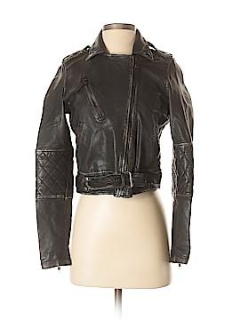 Nicole Miller Artelier Leather Jacket Size P