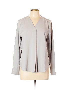 Elizabeth & Clarke Long Sleeve Silk Top Size 10