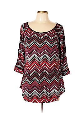 Como Black 3/4 Sleeve T-Shirt Size XL (Petite)