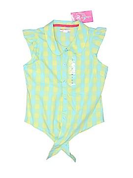 Hartstrings Short Sleeve Button-Down Shirt Size 8