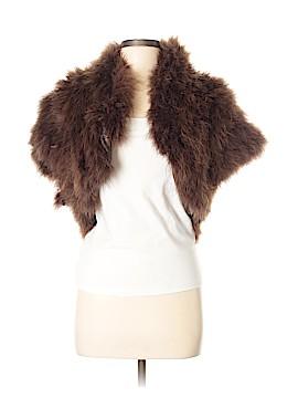 Zara Basic Faux Fur Jacket Size M