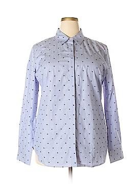 Ann Taylor Long Sleeve Button-Down Shirt Size 18 (Plus)