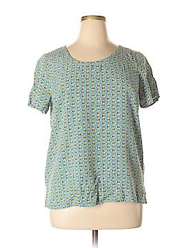 J.jill Short Sleeve Blouse Size L (Petite)