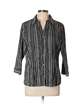 Apt. 9 3/4 Sleeve Button-Down Shirt Size L