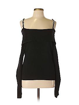 White House Black Market Silk Pullover Sweater Size L