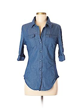 Ci Sono 3/4 Sleeve Button-Down Shirt Size M