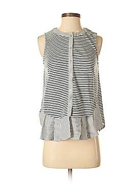 Meadow Rue Sleeveless Button-Down Shirt Size S