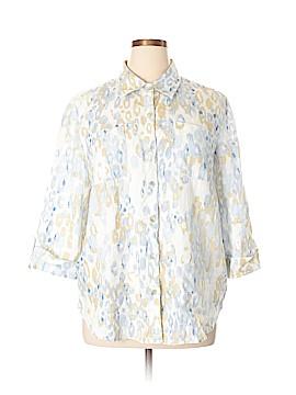 Ruby Rd. 3/4 Sleeve Button-Down Shirt Size XL