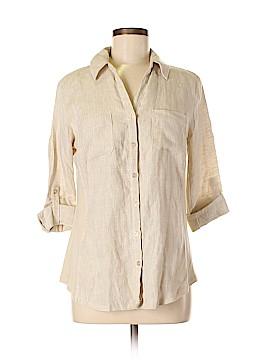 JM Collection 3/4 Sleeve Button-Down Shirt Size 6 (Petite)