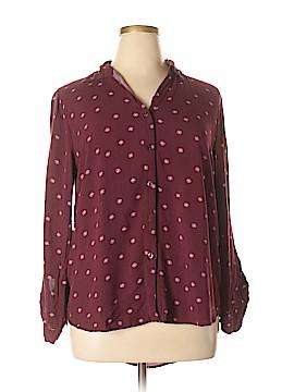Perch by Blu Pepper Long Sleeve Button-Down Shirt Size 2X (Plus)