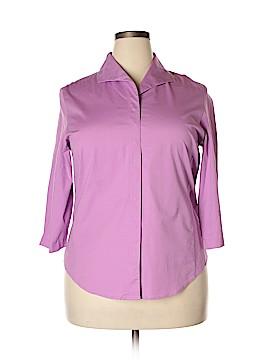 Preston & York 3/4 Sleeve Button-Down Shirt Size 18 (Plus)