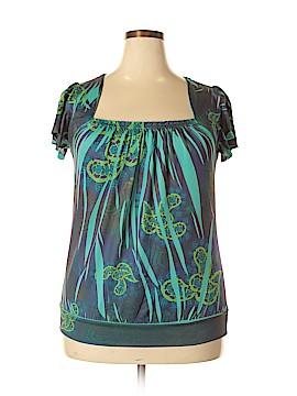 L8ter Short Sleeve Blouse Size 1X (Plus)