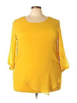 I.N. Studio 3/4 Sleeve Blouse Size 1X (Plus)