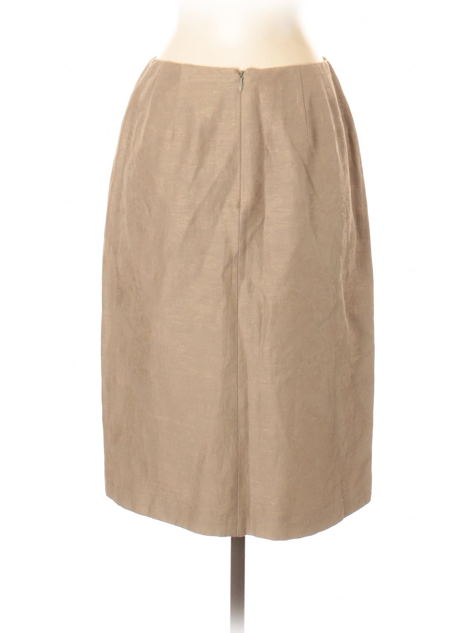 53cdaff2cd Talbots Solid Tan Silk Skirt Size 4 - 89% off   thredUP