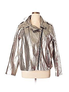 Who What Wear Faux Leather Jacket Size 4X (Plus)