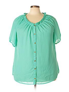 Millenium Short Sleeve Blouse Size 3X (Plus)