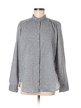 Lou & Grey Long Sleeve Button-Down Shirt Size M