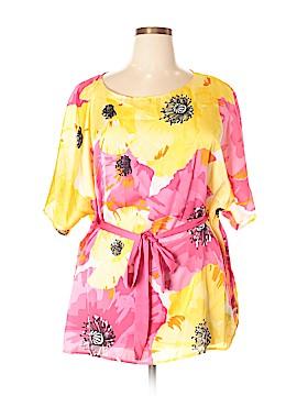 Rafaella Short Sleeve Blouse Size 1X (Plus)