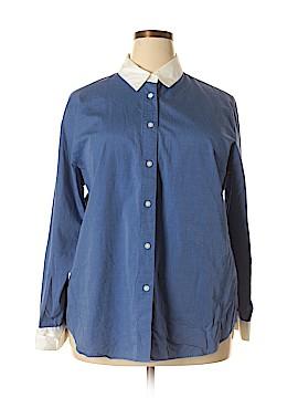 August Max Woman Long Sleeve Button-Down Shirt Size 1X (Plus)