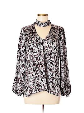 Waverly Grey Long Sleeve Blouse Size M